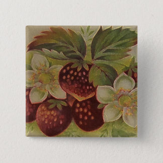 Vintage Strawberries Pinback Button