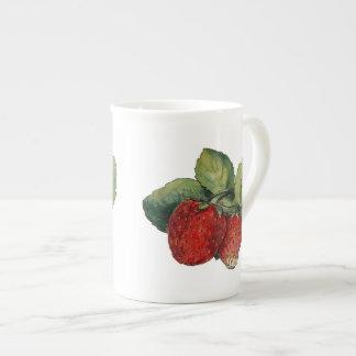 Vintage Strawberries Porcelain Mug