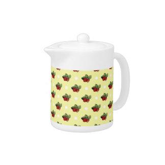 Vintage Strawberry and Polka Dot Pattern