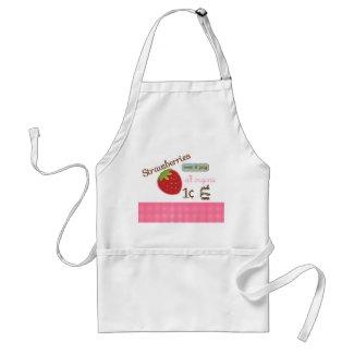 Vintage Strawberry Design Apron zazzle_apron