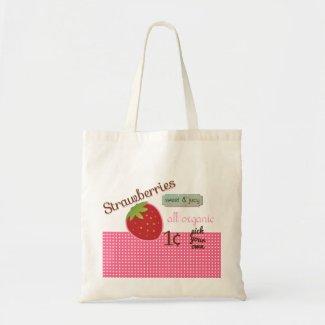 Vintage Strawberry Eco Bag zazzle_bag