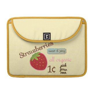 Vintage Strawberry Mac Book Sleeve rickshaw_flapsleeve