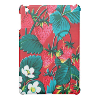 - Vintage Strawberry Oilcloth Pern Cover For The iPad Mini