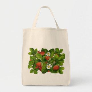 Vintage Strawberry Plant Tote Bag