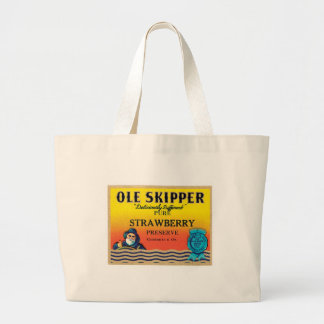 Vintage Strawberry Preserve Food Product Label Canvas Bags