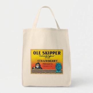 Vintage Strawberry Preserve Food Product Label Bag