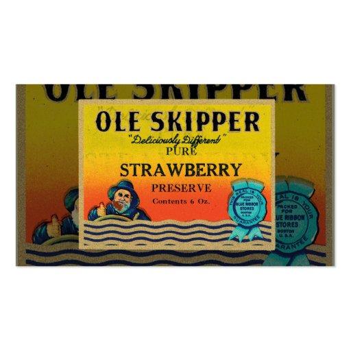 Vintage Strawberry Preserves Business Card