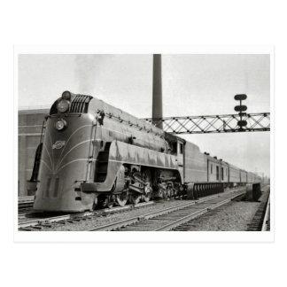 Vintage Streamline Steam Locomotive Postcard