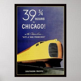 Vintage Streamliner Locomotive Poster