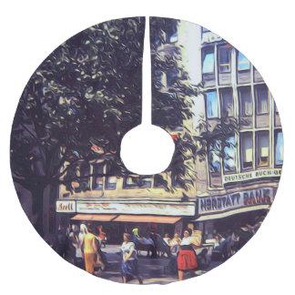 Vintage Street Corner 1969 Brushed Polyester Tree Skirt