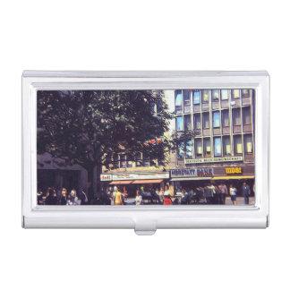 Vintage Street Corner 1969 Business Card Case