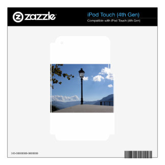 Vintage street lamp against blue sky decal for iPod touch 4G