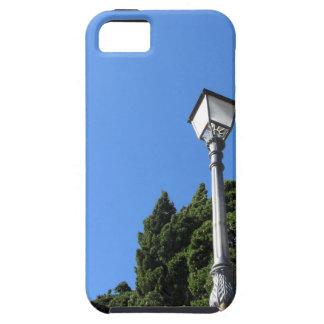 Vintage street lamp against blue sky iPhone SE/5/5s case