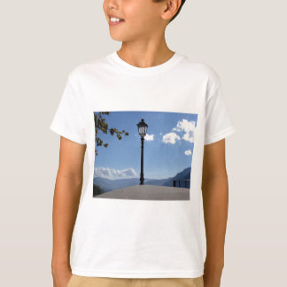 Vintage street lamp against blue sky T-Shirt