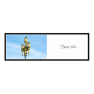 Vintage Street Light - San Francisco Double-Sided Mini Business Cards (Pack Of 20)