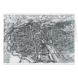 Vintage Street Map of Paris France Card
