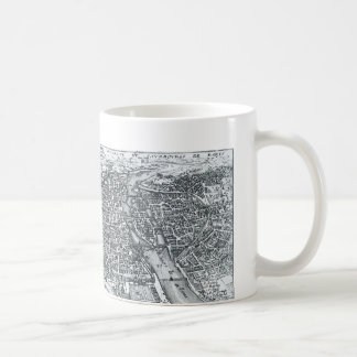 Vintage Street Map of Paris France Coffee Mug