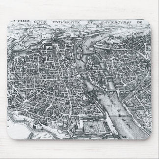 Vintage Street Map of Paris France Mouse Pad