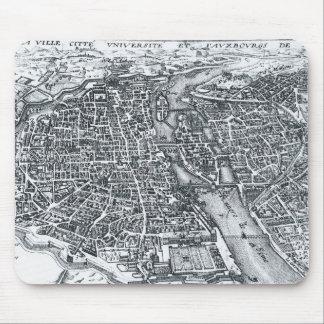 Vintage Street Map of Paris France Mouse Pad
