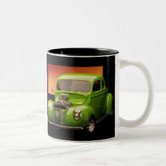 Vintage Street Rod Two-Tone Coffee Mug