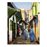Vintage Street Scene of Tangier, Morocco Post Cards