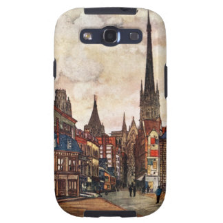 Vintage Street Scene Rouen France Medieval Samsung Galaxy S3 Cases
