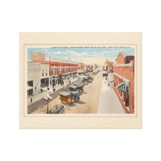Vintage street scene, West Palm Beach, Florida Canvas Print