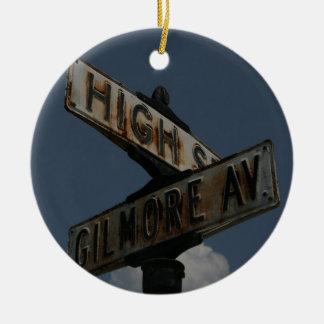 Vintage Street Sign Ceramic Ornament