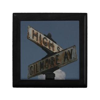 Vintage Street Sign Keepsake Box