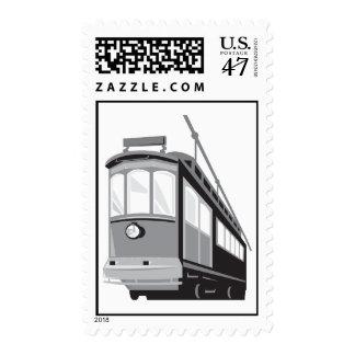 Vintage Streetcar Tram Train Postage