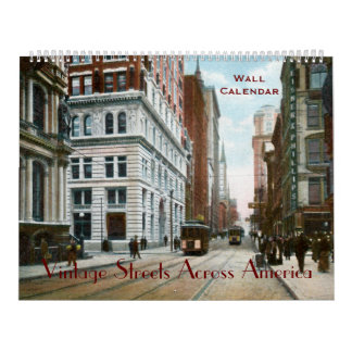 Vintage Streets Across America Wall Calendar