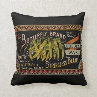 Vintage String Beans Label Pillow