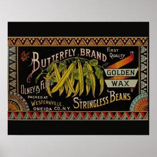 Vintage String Beans Label Poster
