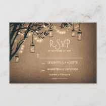 vintage string lights and mason jars RSVP