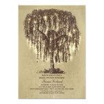 Vintage String Lights Tree Rustic Bridal Shower 5x7 Paper Invitation Card