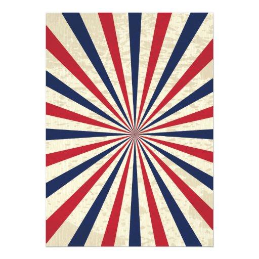 Vintage Stripe 4th of July Party Invites (back side)