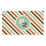 Vintage Stripe Pattern Professional Business Card