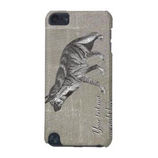 Vintage Striped Hyena iPod Case