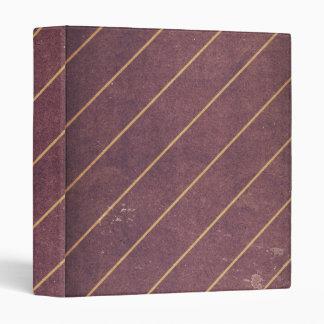 Vintage Striped Textile Grunge Binder