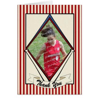 Vintage Stripes Baseball Card Thank You