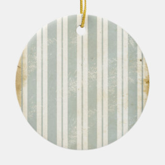 Vintage Stripes Ceramic Ornament