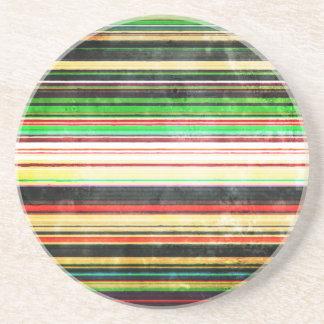 Vintage Stripes Drink Coaster