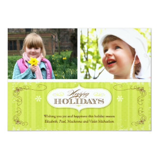 Vintage Stripes Holiday Card