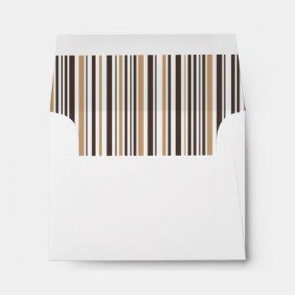 Vintage Stripes Liner - Light & Dark Brown Envelope