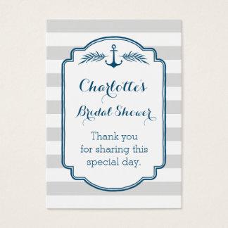 Vintage Stripes Nautical Bridal Shower Favor Tags