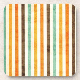 Vintage Stripes Pattern Beverage Coaster