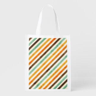 Vintage Stripes Pattern Market Totes