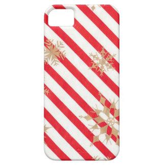Vintage Stripes Snowflakes iPhone 5 Cases