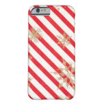 Vintage Stripes & Snowflakes iPhone 6 Case