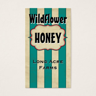 Vintage Stripes Wildflower Honey Business Card